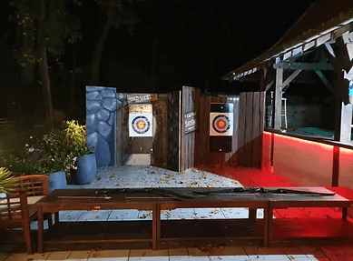 Décoration animation western : tir à l'arc